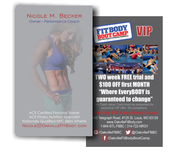 Oakville Fit Body VIP Card